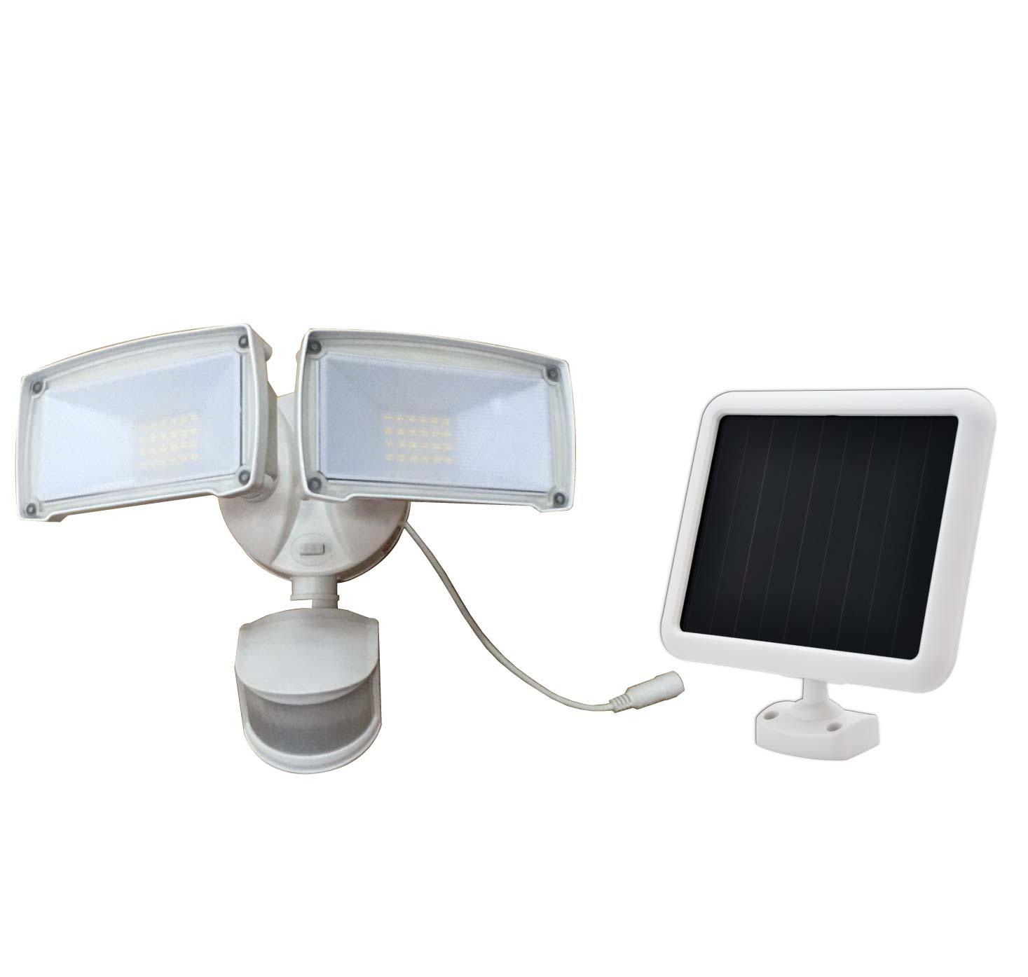 dualhead security spotlight solar powered motion sensing security lighting from creative industries